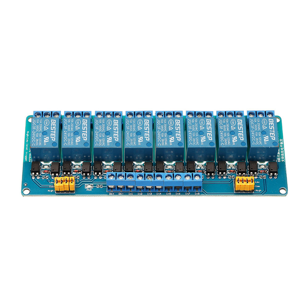 hight resolution of bestep 8 channel 24v relay module high and low level trigger for arduino cod