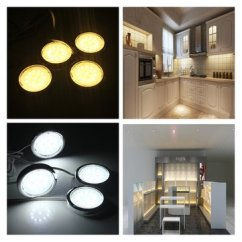 Kitchen Bulbs 60 Inch Island 4p Led Home Cabinet Shelf Night Light Energy Saving Lamp