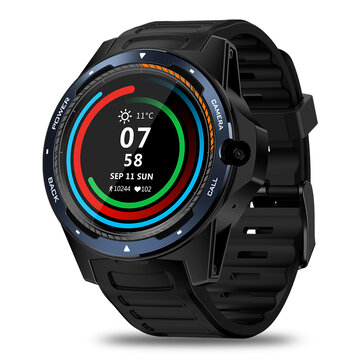 Zeblaze THOR 5 Dual Chipset Technology Global Bands 800w Frontfacing Camera 2GB/16GB WIFI GPS 1.39' AMOLED Smart Watch Phone Blue
