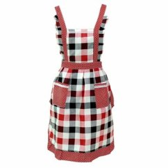 Cute Kitchen Aprons French Country Style Accessories Honana Women Lady Dress Restaurant Home Apron For Pocket Cooking Funny Cotton Bib Dining Room Barbecue