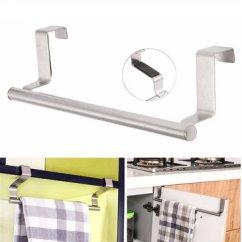 Kitchen Towel Bar Laminate Tile Flooring 23cm Bathroom Rack Single Layer Over Door Cupboard Hanger Hotel Bath Stainless