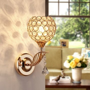 wall lamps for living room carpets india e27 modern crystal light corridor balcony lamp 220v