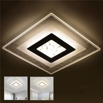 led ceiling light living room burnt orange 28w modern simple square acrylic lights bedroom home lamp ac220v