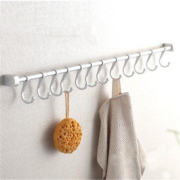kitchen hooks aid knife set 12 utensil wall mounted rail hanging storage rack bathroom holder