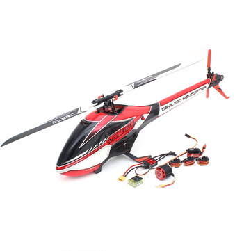ALZRC Devil 380 FAST FBL 6CH 3D Flying Flybarless RC Helicopter Super Combo With Motor ESC Servo Gyro