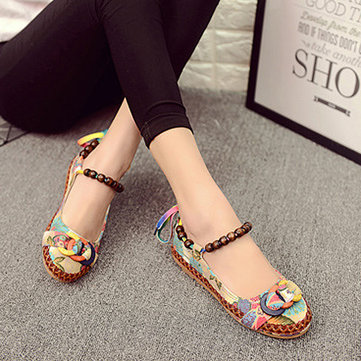 US$20.38 53% SOCOFY Size 5-11 Women Casual Flats Beading Round Toe Colorful Comfortable Flats Loafers Shoes Women's Shoes from Bags & Shoes on banggood.com