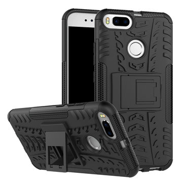 Bakeey Hybrid Shockproof TPU+PC Armor Stand Holder Back Case For Xiaomi Mi A1 / Xiaomi Mi 5X