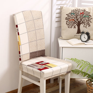 striped chair covers dining rooms for wedding ebay honana wx 913 elegant plaids stripes elastic stretch seat cover room home decor