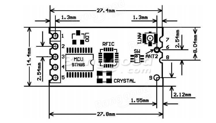 Geekcreit® HC-12 433 SI4463 Wireless Serial Module Remote