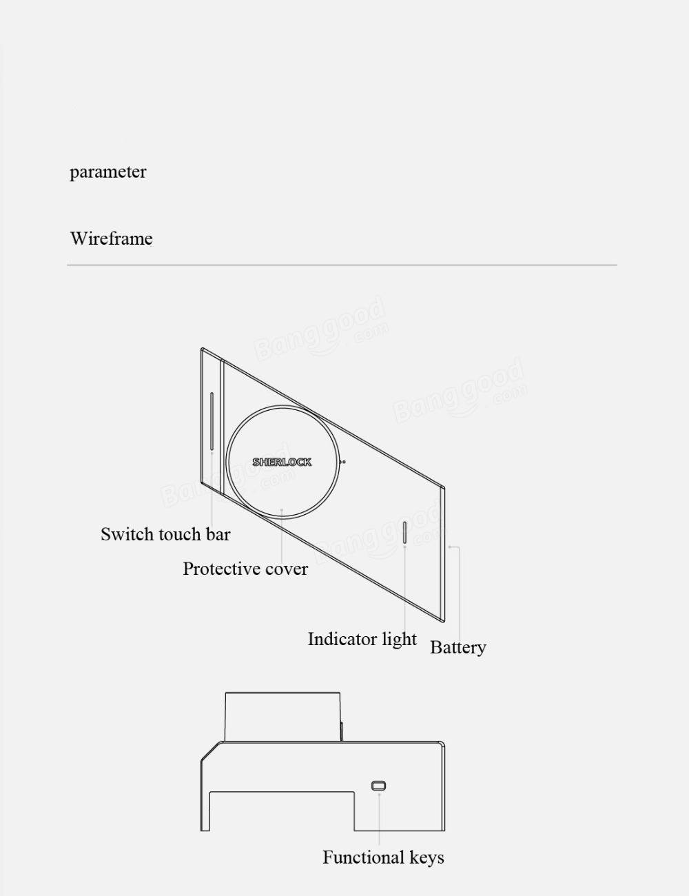 Xiaomi Mijia Sherlock M1 Intelligent Stick Lock Non