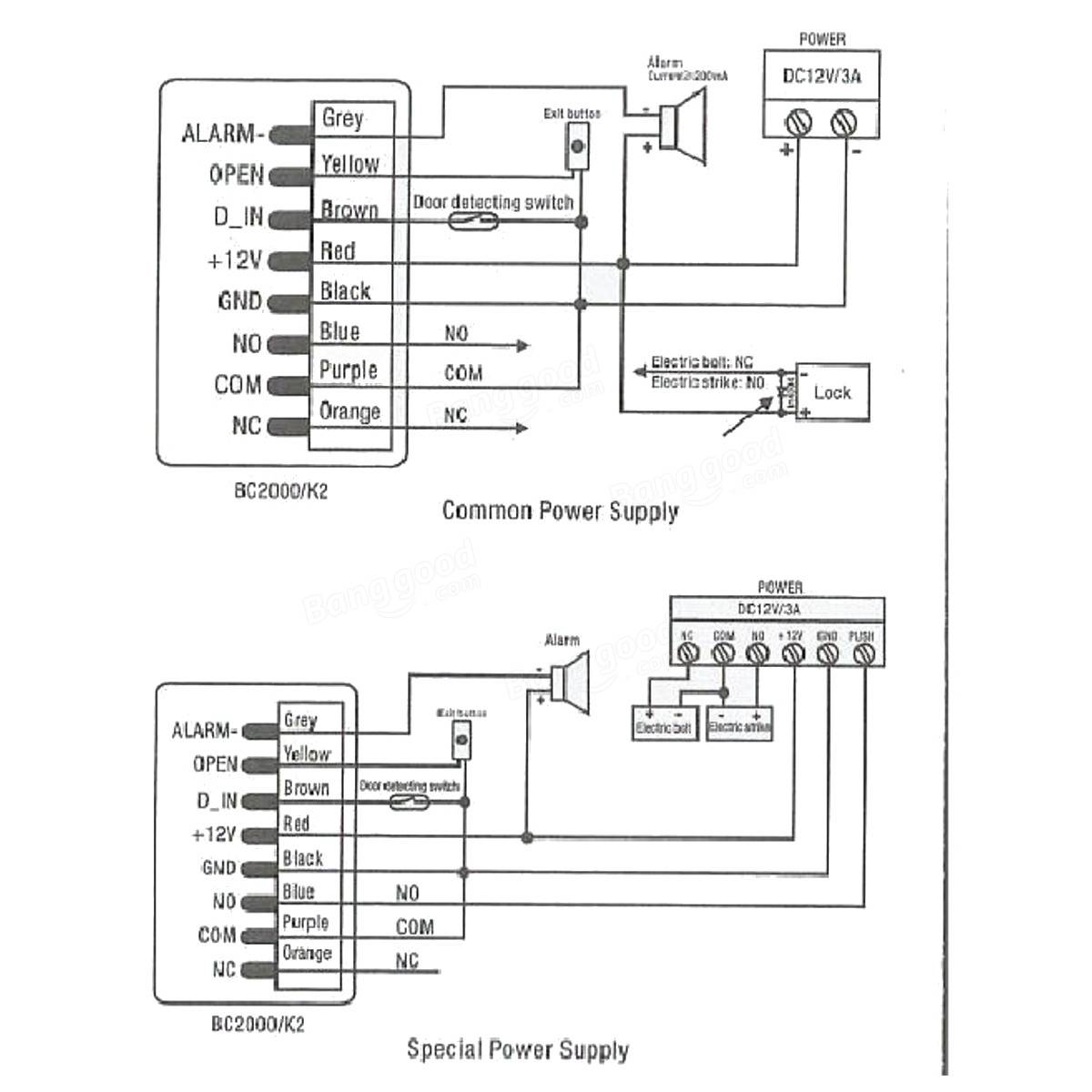 K2 teclado de contraseña puerta de entrada lector de