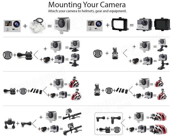 EKEN H8 PRO Action Camera Ambarella A12S75 Sport DV 4K