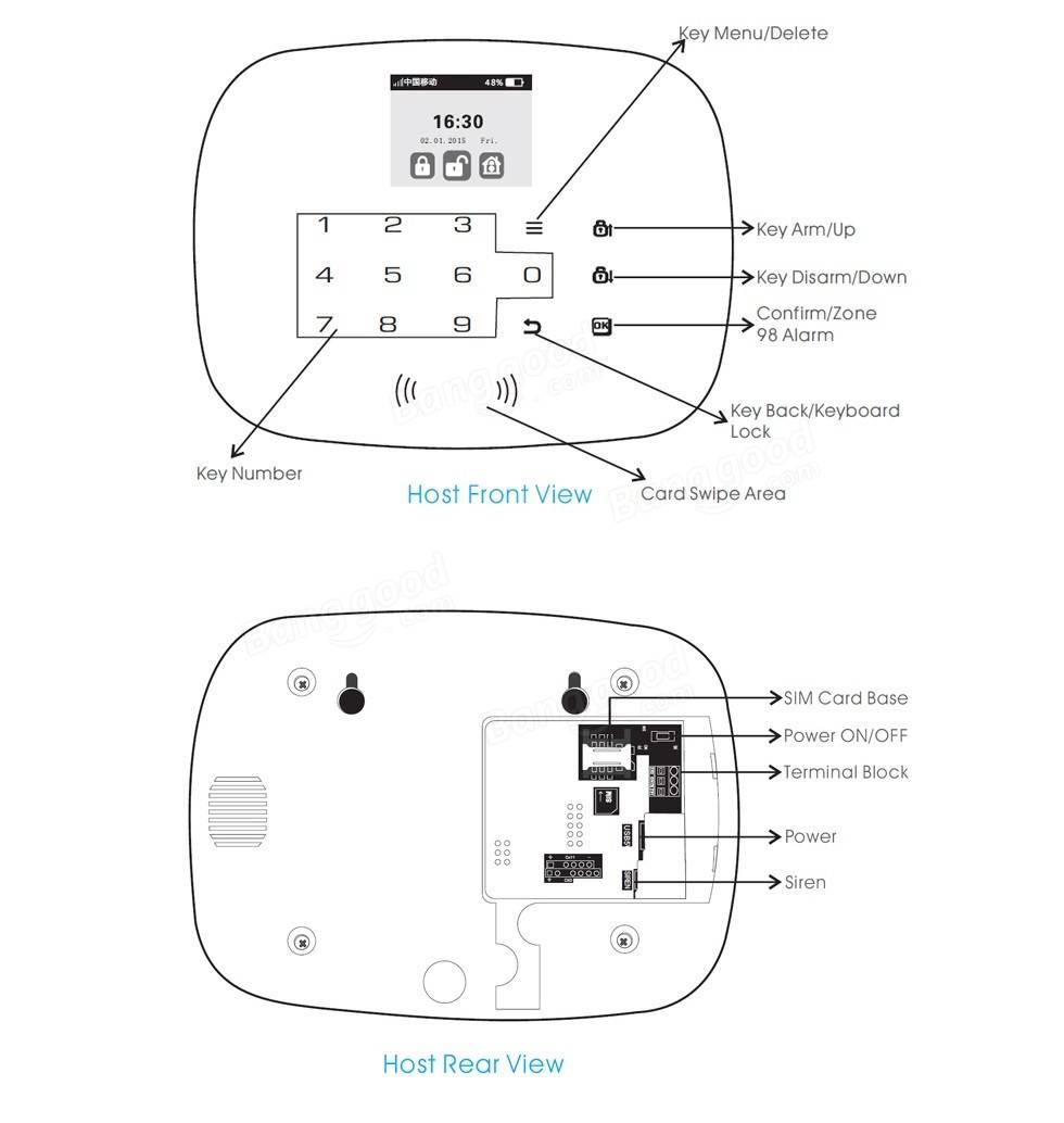 Ios G19 Kerui android app gsm porte du système d'alarme