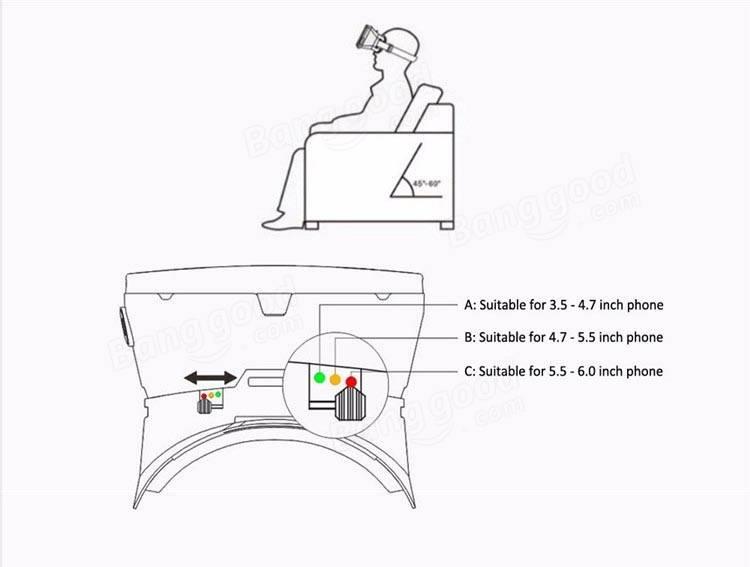 RITECH II Head Mount 3D Version Virtual Reality Glasses