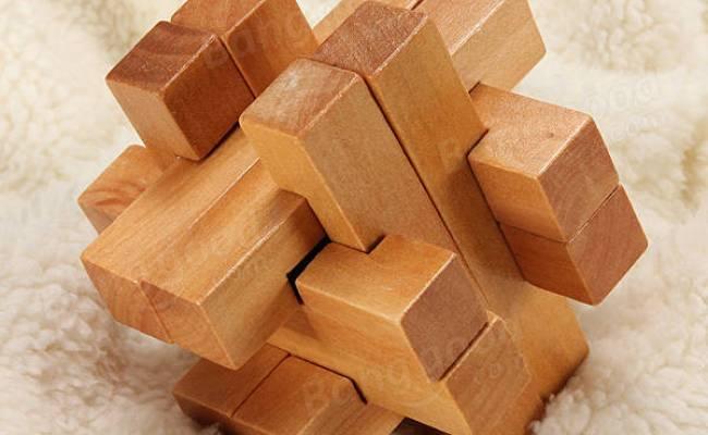 Vintage 3d Wooden Brain Teaser Puzzle Game Toy Us 3 89