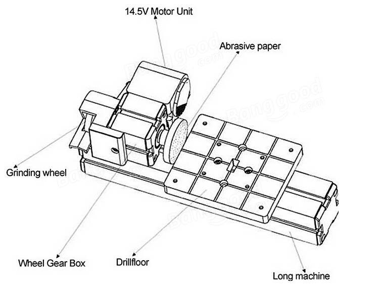 8 In 3 Motorized Mini Machine Jigsaw Grinder Driller Wood