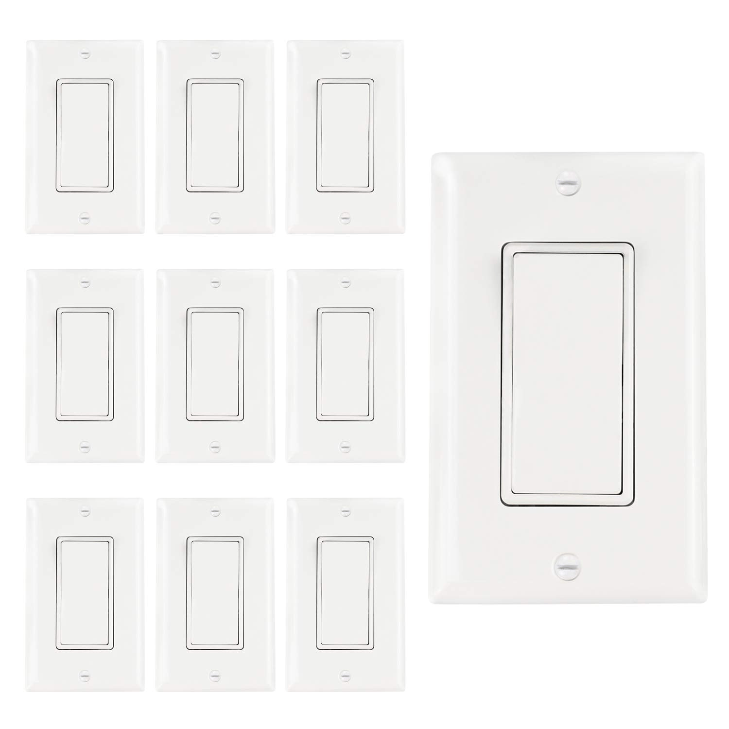 Abbotech Light Switch With Wall Plates Included Decorative