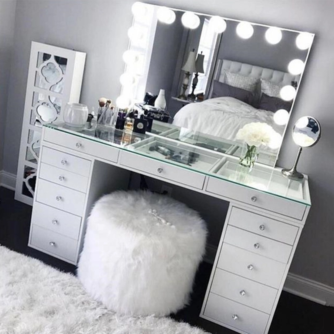 mirrored vanity set barrow