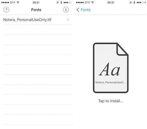 AnyFont, une app pour installer facilement des polices sur