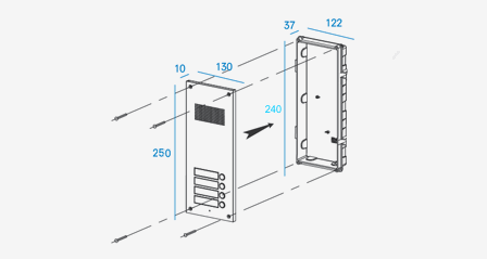 COMMAX Intercom: 4 Buttons Audio Door Intercom Panel DR