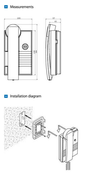 Commax 2-Way 1 to 1 Indoor Intercom System AC110V Powered