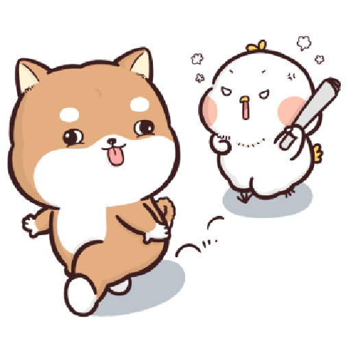Shiba Inu PIPI's life(3) by Liz - 2 WhatsApp Stickers - Stickers Cloud