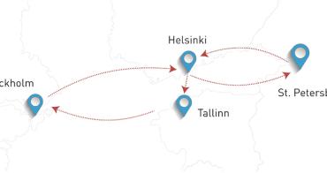 免簽入俄72小時:1次玩塔林x斯德哥爾摩x赫爾辛基x聖彼得堡的訂票流程分享