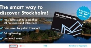 北歐   瑞典:如何使用斯德哥爾摩卡Stockholm Card?