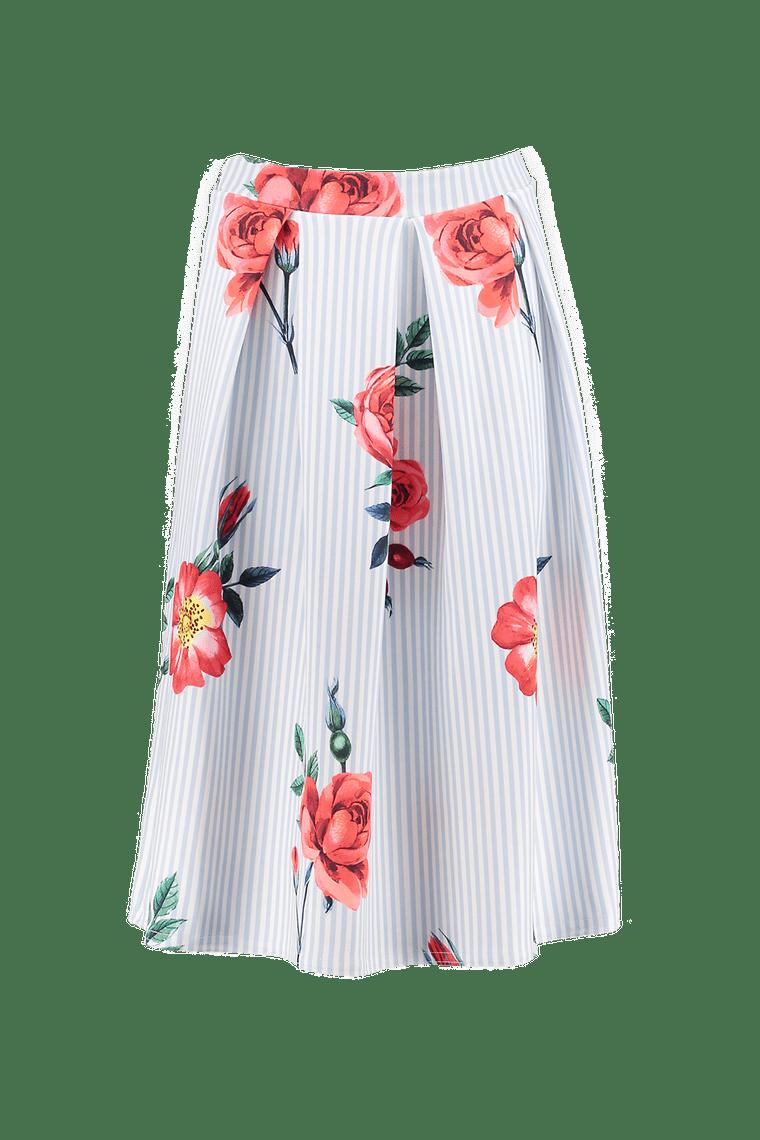 Striped Floral Skater
