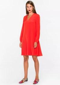 Paul Smith Women's Orange Silk A-Line Dress 11624550922