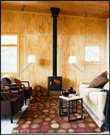 Plywood Cabin Walls