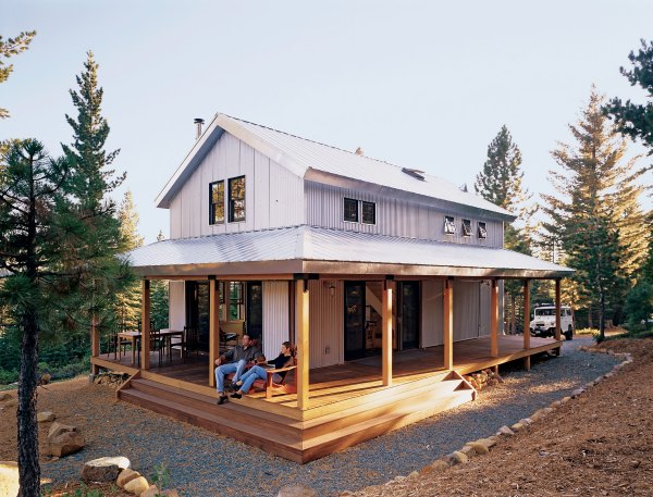 Small Cabin Plans with Wrap around Porch