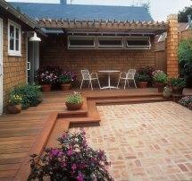 Free Building Plan Transitional Backyard Deck