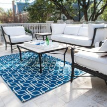 Blue Outdoor Rugs and Furniture