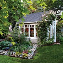 Bright And Airy Backyard Shed Greenhouse