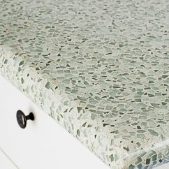 Recycled Glass Kitchen Countertops 6 Seat Table Eco Friendly Sunset Magazine