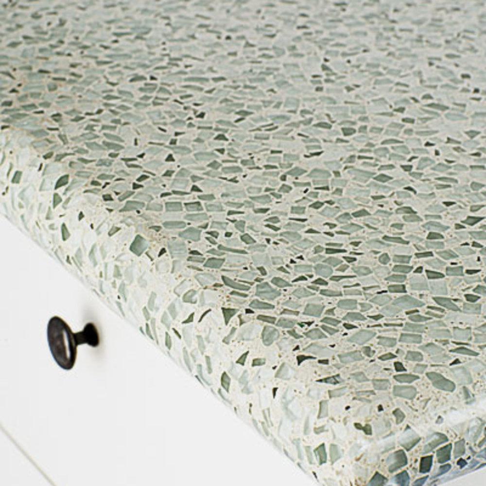 recycled glass kitchen countertops remodel kansas city eco friendly sunset magazine
