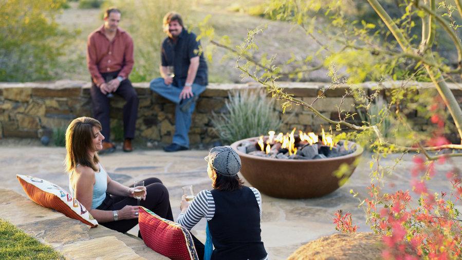 ideas firepits - sunset