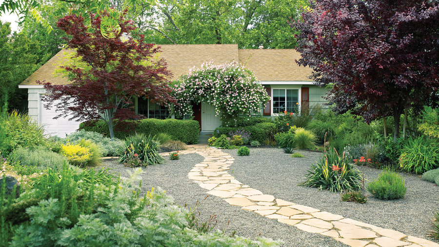 7 inspiring lawn-free yards - sunset