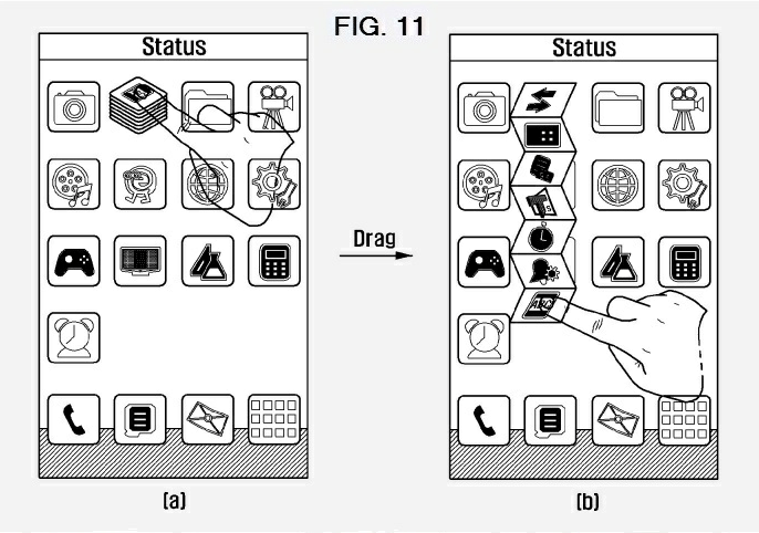 Samsung Patent Filing Shows New Folder Interactions For