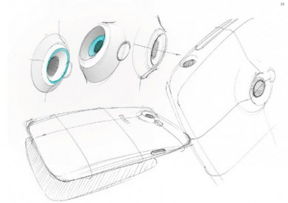 HTC proudly shows off early design sketches of their One