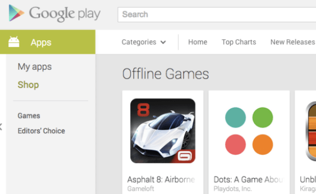 Google Play Store Now Has A Separate Section For Offline