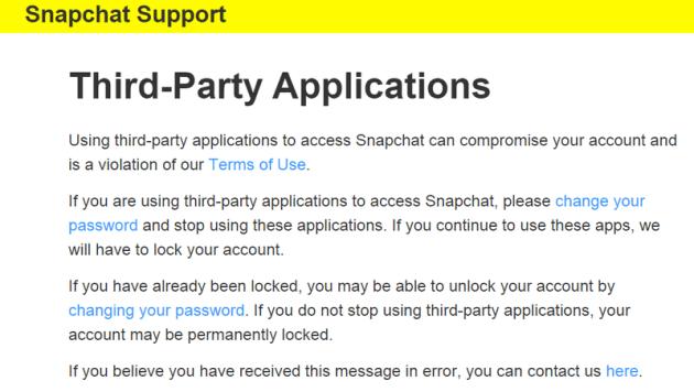 Snapchat Locked