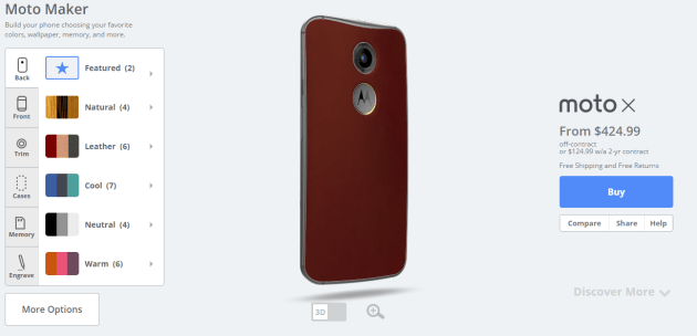 moto x red leather