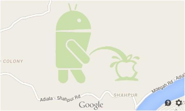Google_Maps_Bugdroid_Pissing_Apple_Logo