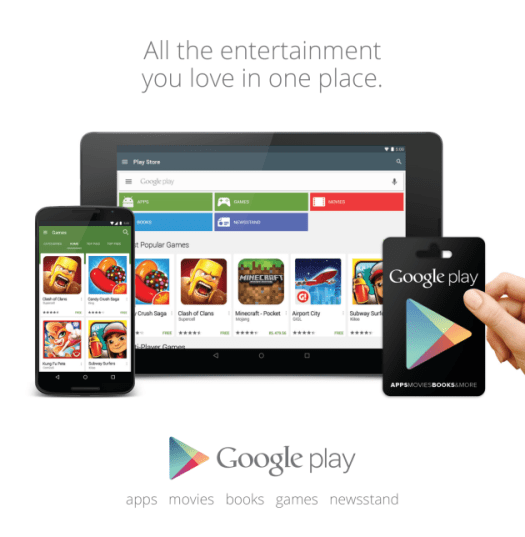 Google Play Gift Cards Devices