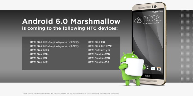 htc marshmallow update