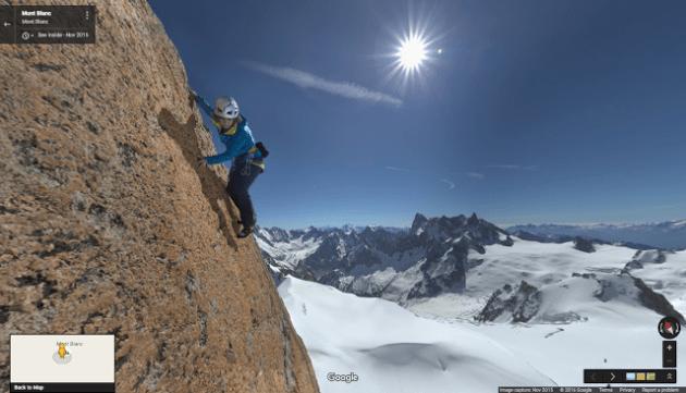 google maps mont blanc