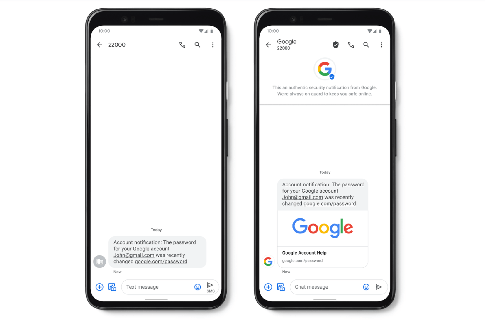 Google adds verified SMS and spam protection to Messages