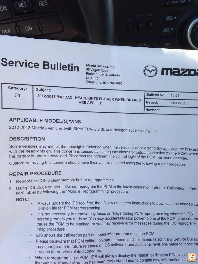 medium resolution of thread 2012 2013 mazda 3 with skyactiv and halogen headlamp dimming issue